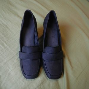Asos blue loafer with chunk heel Size 5